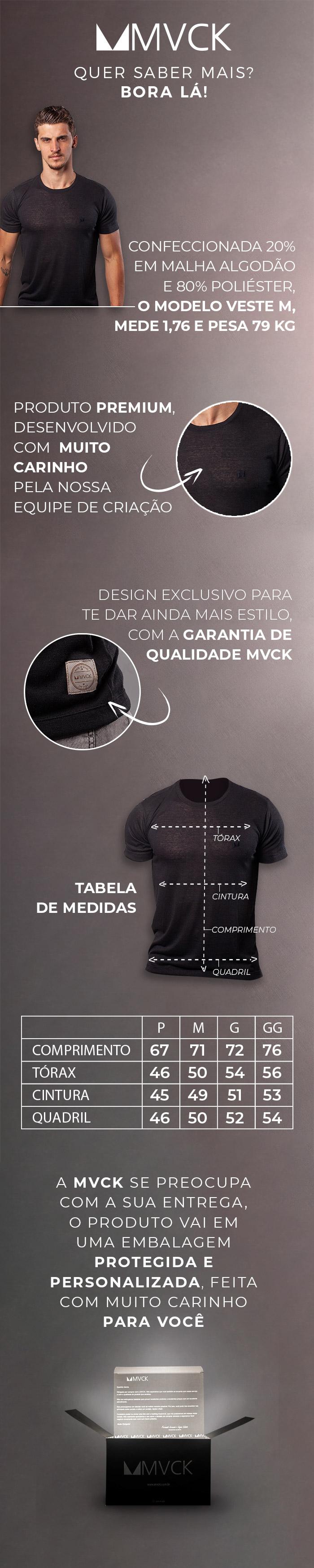 Descrição Camiseta Masculina Preta Basic