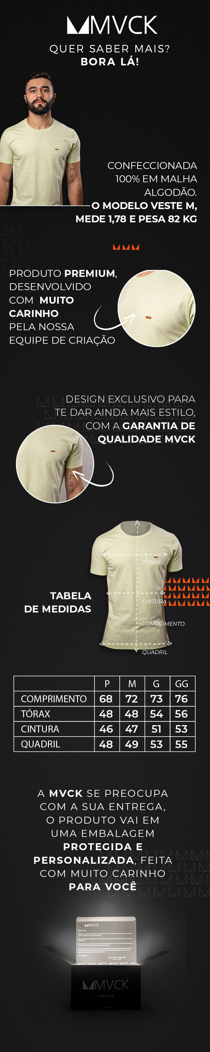 Descrição Camiseta Masculina Verde Água