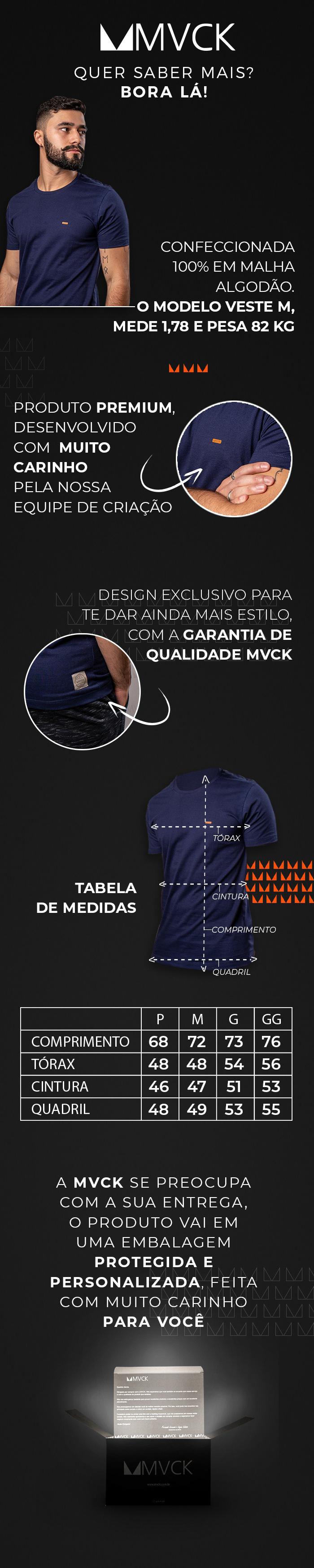 Descrição Camiseta Masculina Marinho