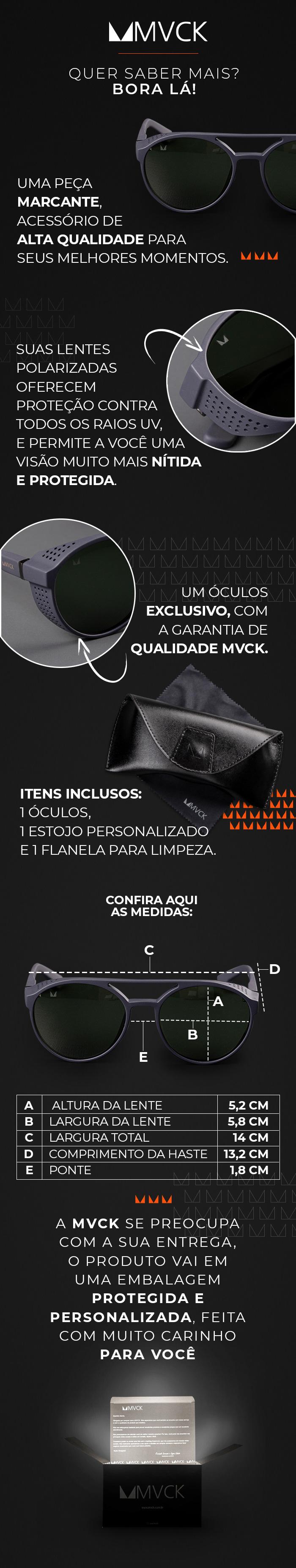 Descrição Óculos de Sol Masculino Polarizado Melbourne M3