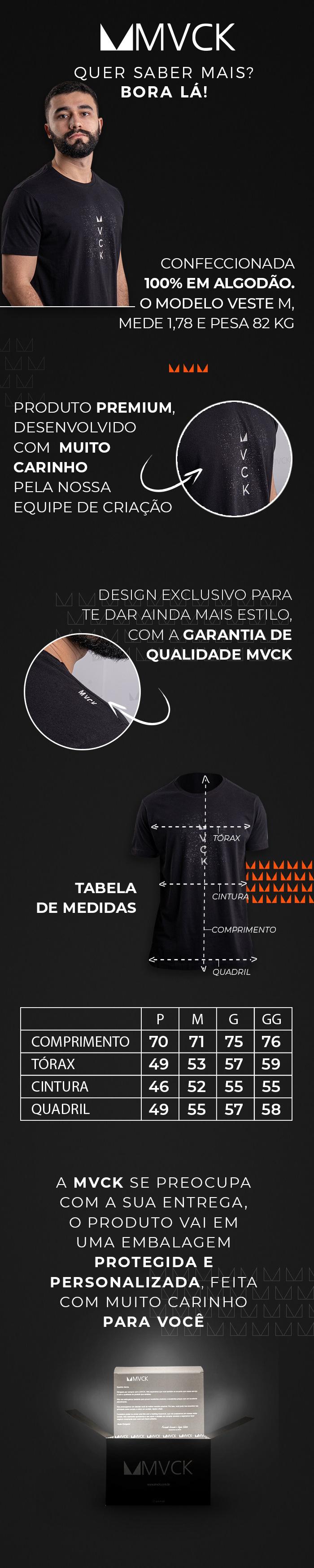 Descrição Camiseta Masculina Preta Abstract