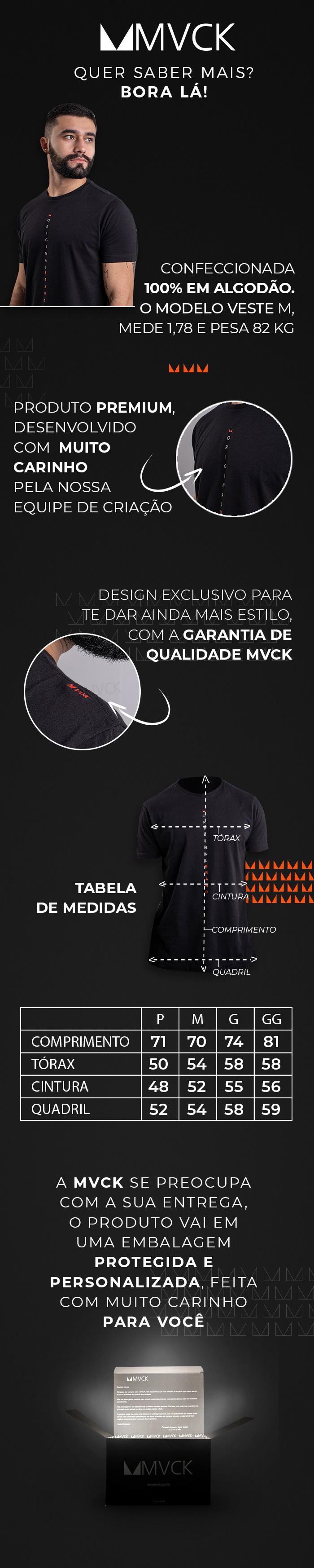Descrição Camiseta Masculina Preta Original Brand