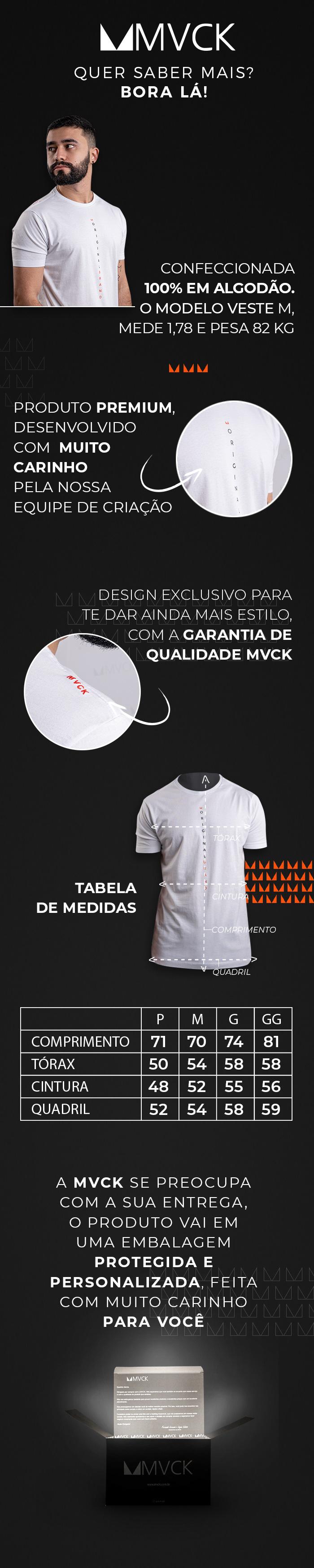 Descrição Camiseta Masculina Branca Original Brand
