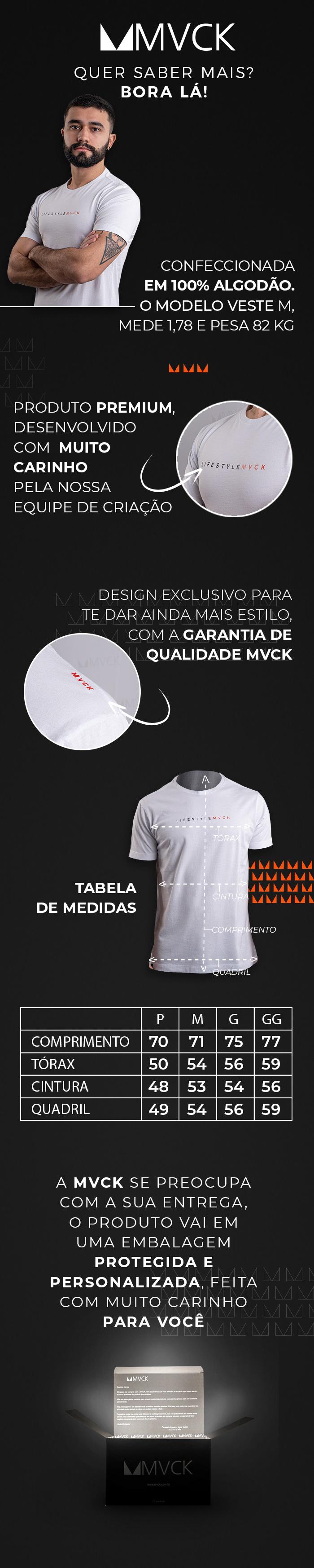 Descrição Camiseta Masculina Branca Lifestyle