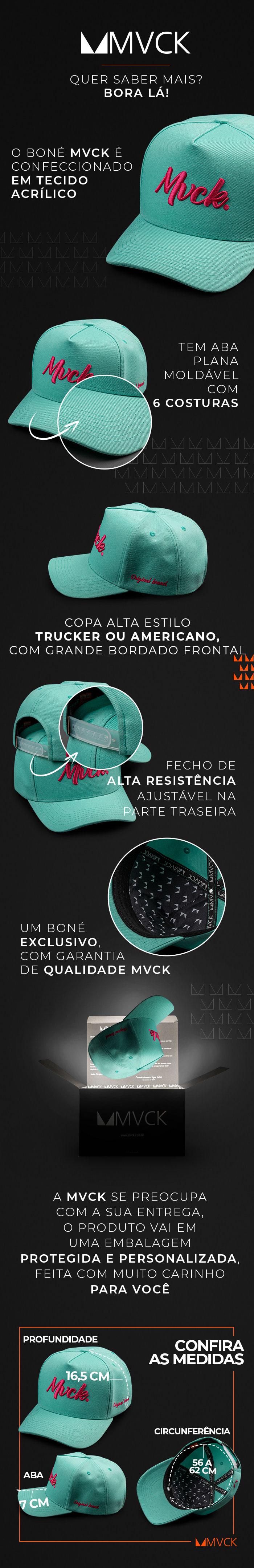 Descricao Boné Aba Curva Bordado Verde Tiffany Original Brand