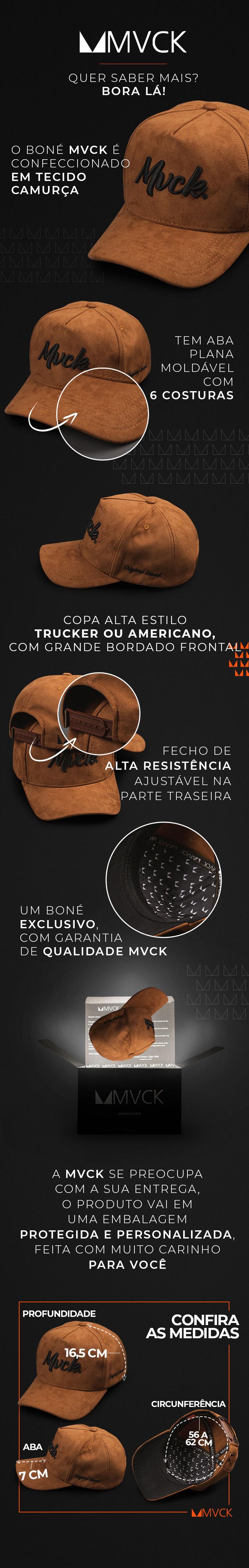 Descricao Boné Aba Curva Bordado Caramelo Camurça Original Brand