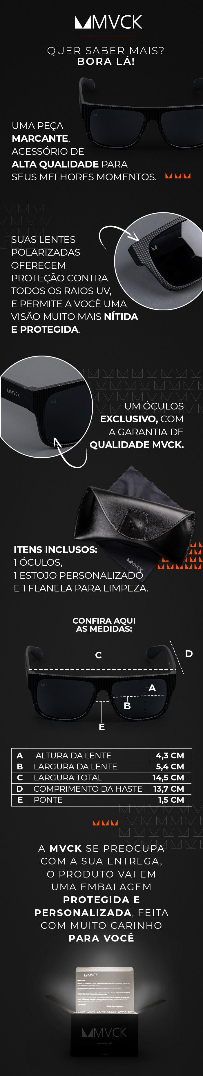 Descrição Óculos de Sol Masculino Polarizado Granada