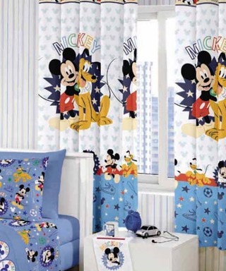 Cortina Infantil Santista Mickey Happy