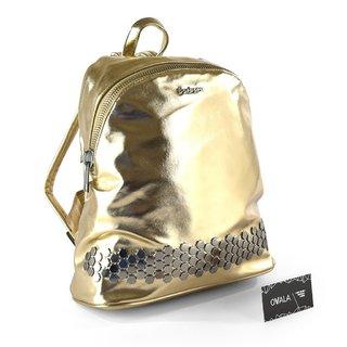 d9ad4145e ... Mochila Bárbara Bags con tachas hexagonales (dorada) - comprar online  ...