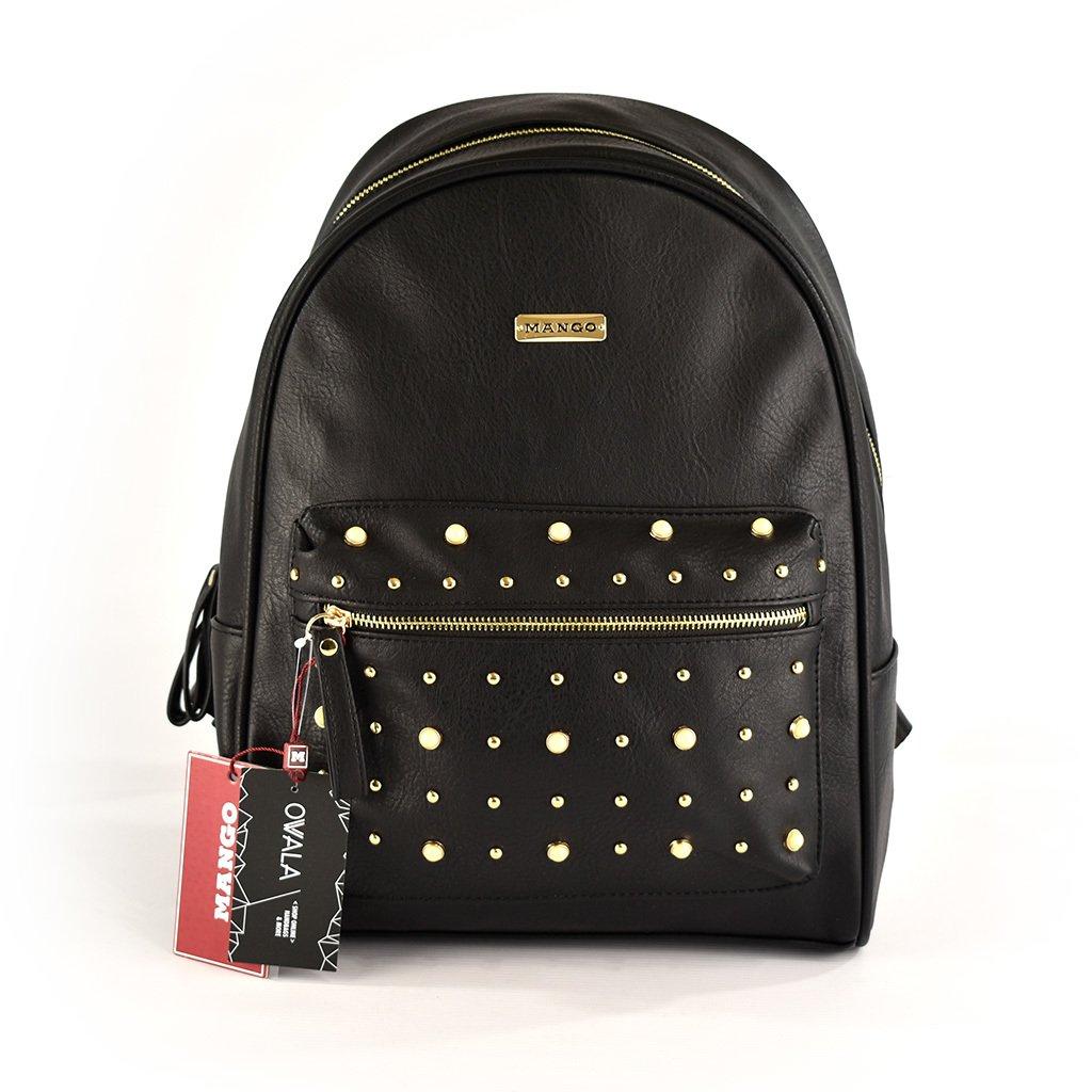 diseño de calidad 79650 c538f Mochila Mango con tachas circulares doradas, perlas y bolsillo