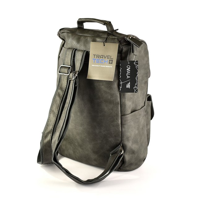 Mochila Travel Tech con bolsillo porta notebook (gris) en internet