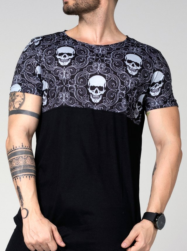 OVERSIZED BIFÁSICA SKULL TRIBAL