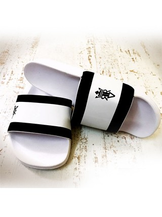 Chinelo Slide Single stripes Branco