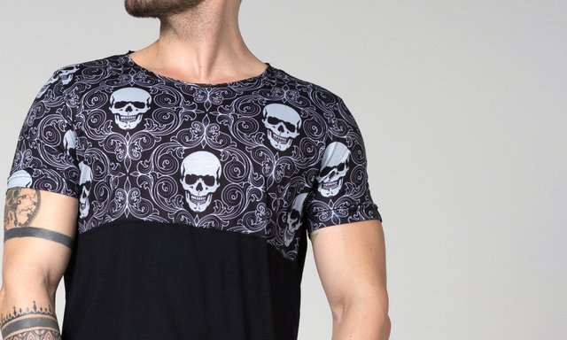 OVERSIZED BIFÁSICA SKULL TRIBAL na internet
