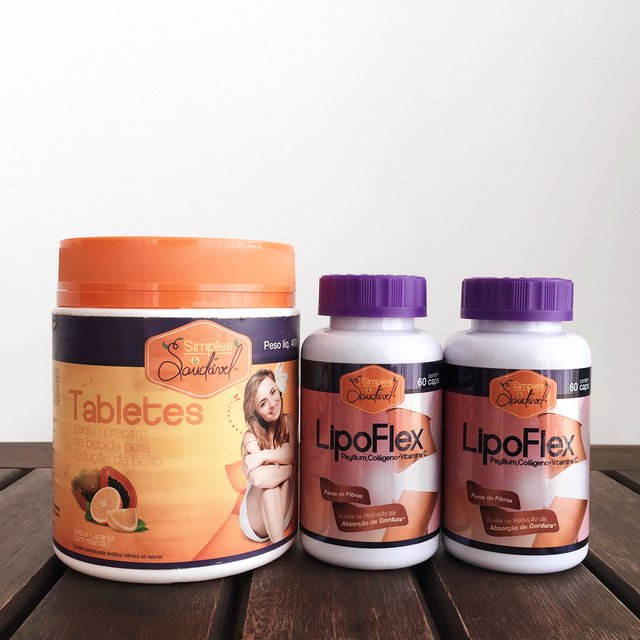 Tablete + Dupla LipoFlex Redutor do Apetite