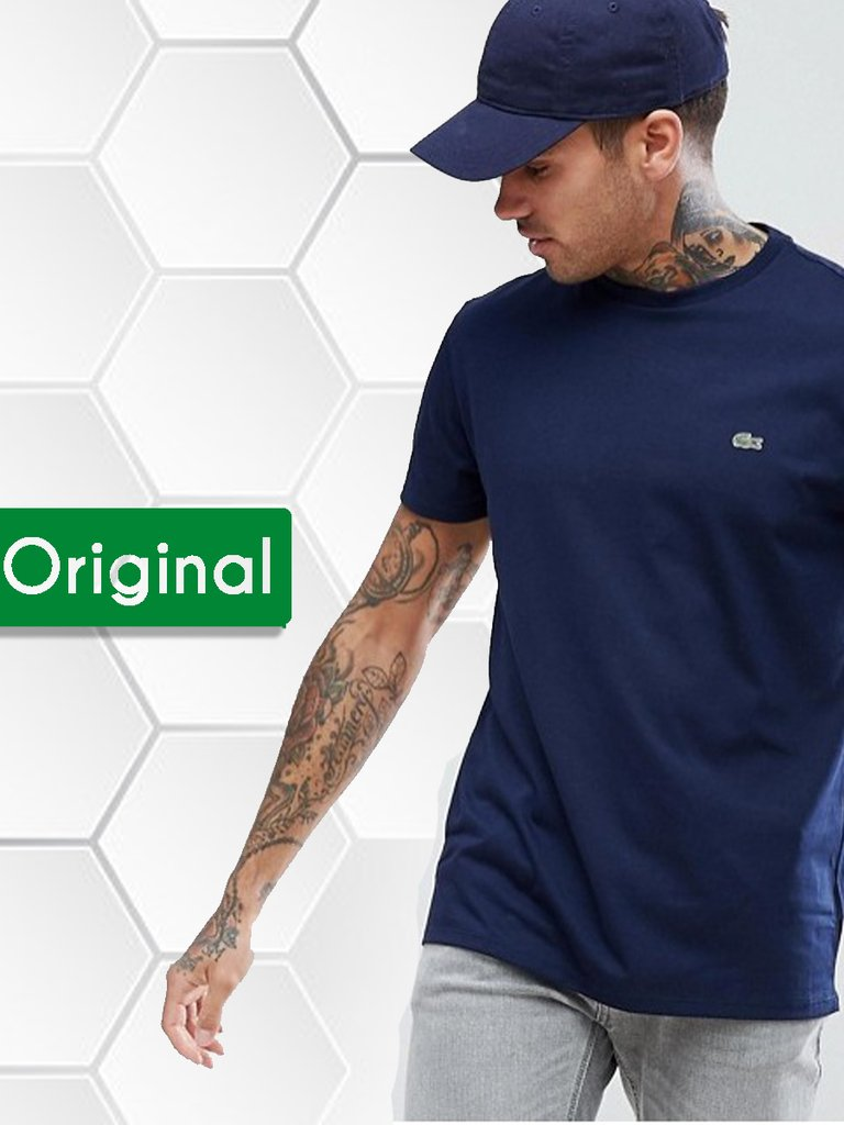 f0b0539b85bfe Camiseta gola u 100% algodão Pima Azul