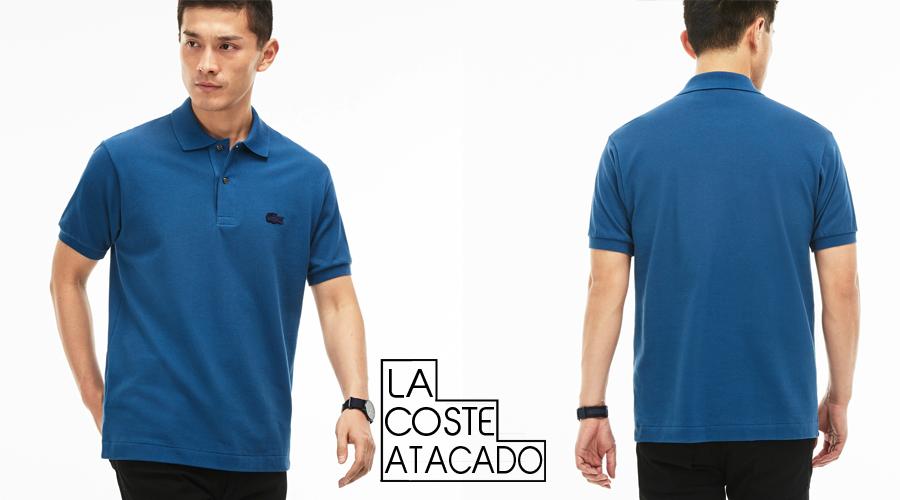 d92e43f6e5374 Camisa polo Lacoste masculina 100% algodão Petit Piquet, com botões de  madrepérola,