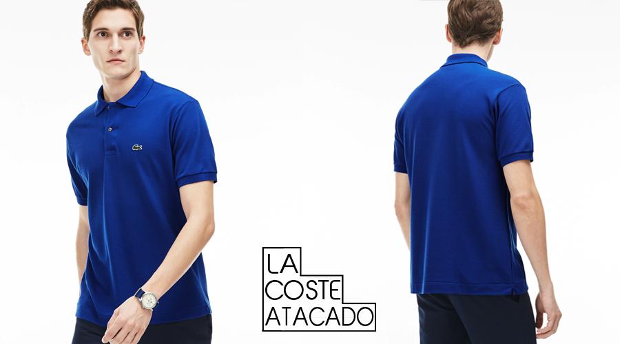 Camisa polo Lacoste L.12.12 masculina 100% algodão Petit Piquet, com botões  de madrepérola. f8c249f3c9