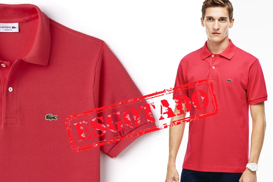 70c8213de5791 Camisa polo Lacoste L.12.12 masculina 100% algodão Petit Piquet, com botões  de madrepérola.