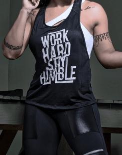 Camiseta Fitness com Estampa Humble Cava...