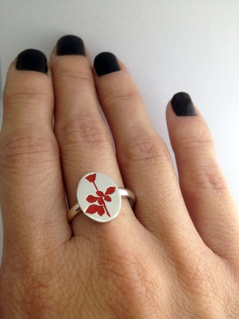Anillo de plata Depeche Mode: Global Spirit; Joyas para Fans; Hecho a mano; Argentina; Depeche Mode; Global Spirit