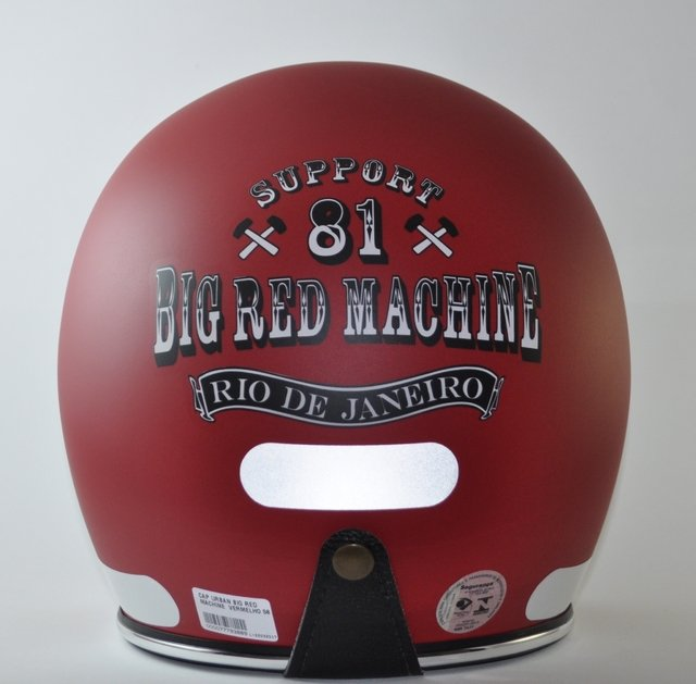 Capacete Big Red Machine Rio x Urban Helmets