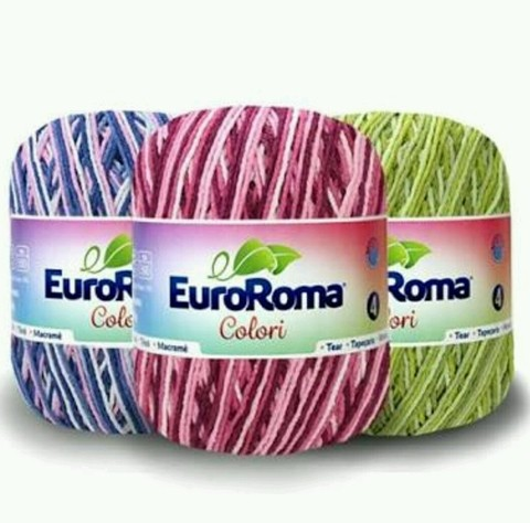 Barbante EuroRoma Colori Mesclado n°4 - 200g