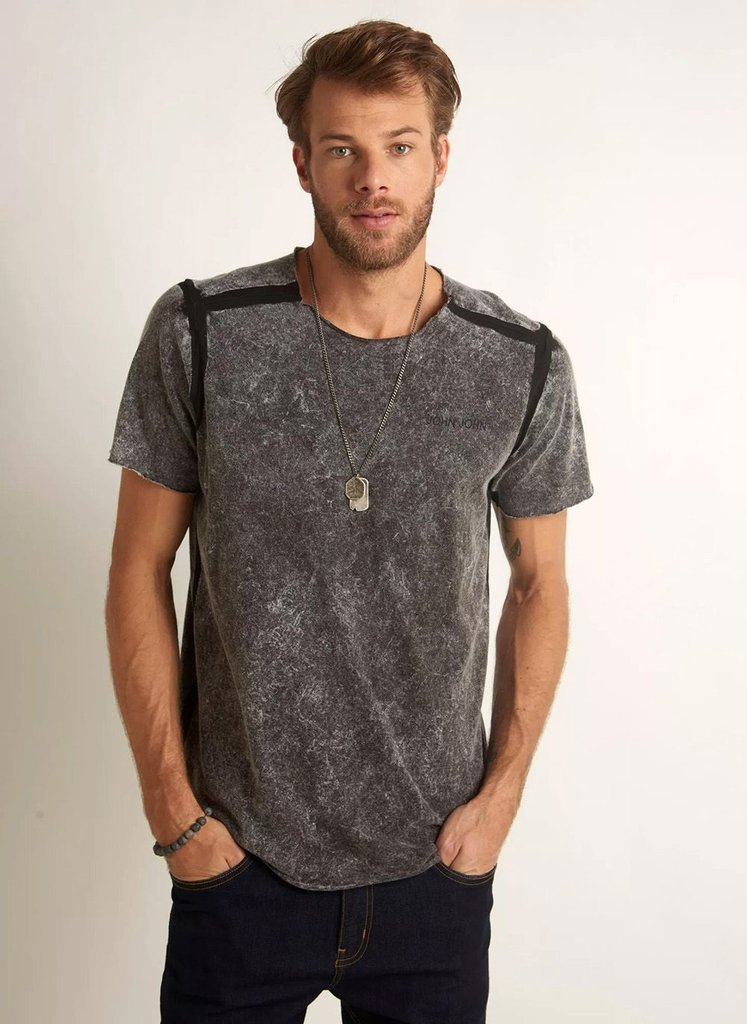 CAMISETA JOHN JOHN RX DOUBLE INDIAN MALHA CINZA MASCULINA. 0% OFF 6b05484b8d01b