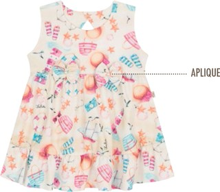 Vestido Beach Time Kids Rosa