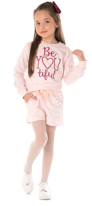 Conjunto Be You Time Kids Rosa