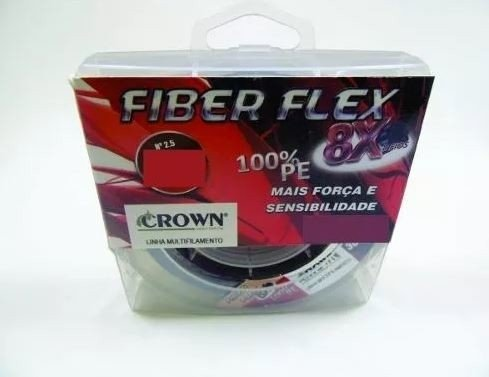 Linha Multifilamento Crown FIBER FLEX 8X 0,30mm 100m