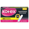 KOTEX TAMPON MEDIO EVOLUTION PAQUETE X16 uds.