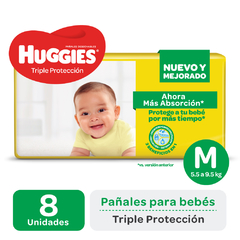 PAÑAL HUGGIES AMARILLO REGULAR M PAQUETE x8 uds. LIGHT