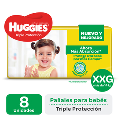 PAÑAL HUGGIES AMARILLO REGULAR XXG PAQUETE x8 LIGHT