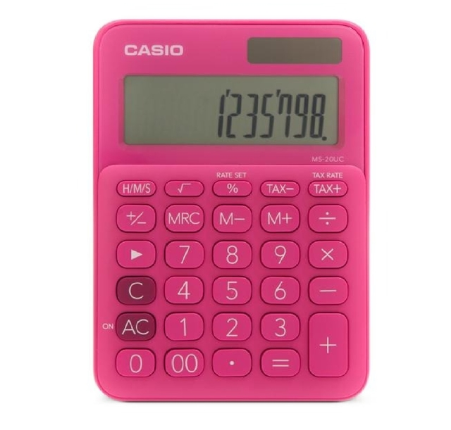 CALCULADORA CASIO 12 DIGITOS REF. MS-20UC X UND COD:BVSA1245