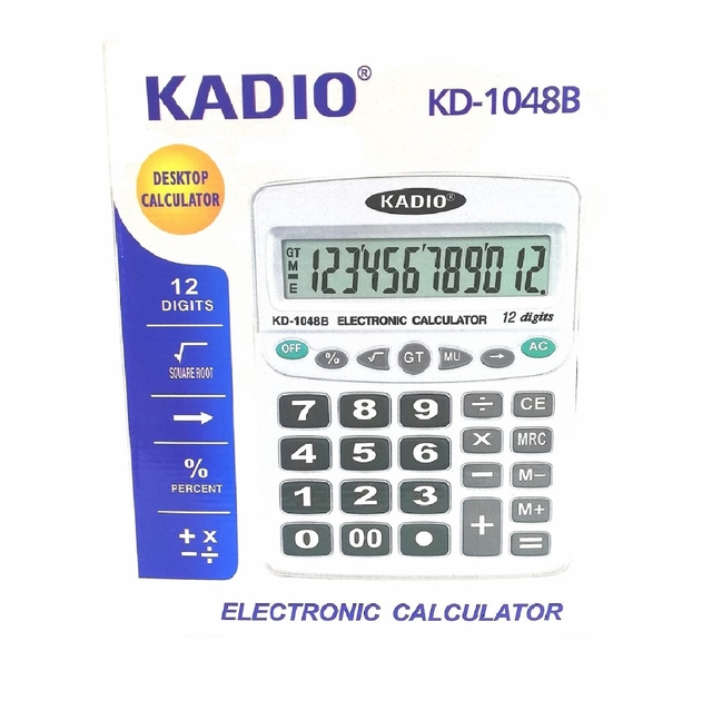 CALCULADORA 12 DIGITOS KADIO REF. KD1048