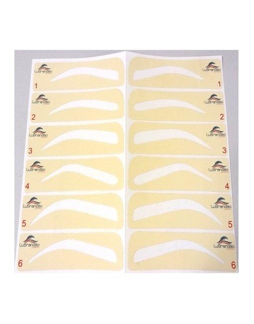 Moldes Para Sobrancelhas Adesivos Conj Com 6 Modelos