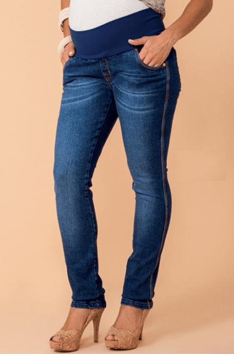 b7aba41798ed50 Calça gestante jeans clare skinny