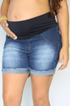 Shorts gestante jeans Andreza na internet