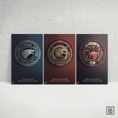 Game of Thrones Houses x 3