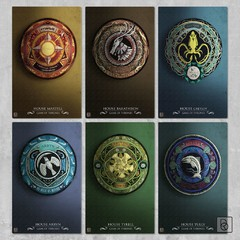 Game of Thrones Houses x 6