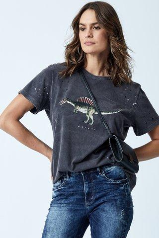 c7a7ffacc74b0 Camiseta Estampa Dinossauro