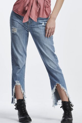 Calca Jeans Suki Barra Destroyed - comprar online