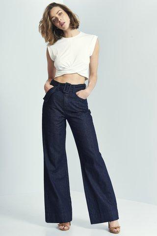 611c9c80cac5b Calça Jeans Pantalona com Cinto - SHOP COLCCI OFICIAL