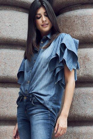 227c0e3ec Camisa Jeans Babados - Comprar em SHOP COLCCI OFICIAL
