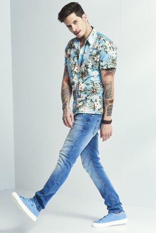 f687a3d45 Camisa Estampada Floral Slim - SHOP COLCCI OFICIAL