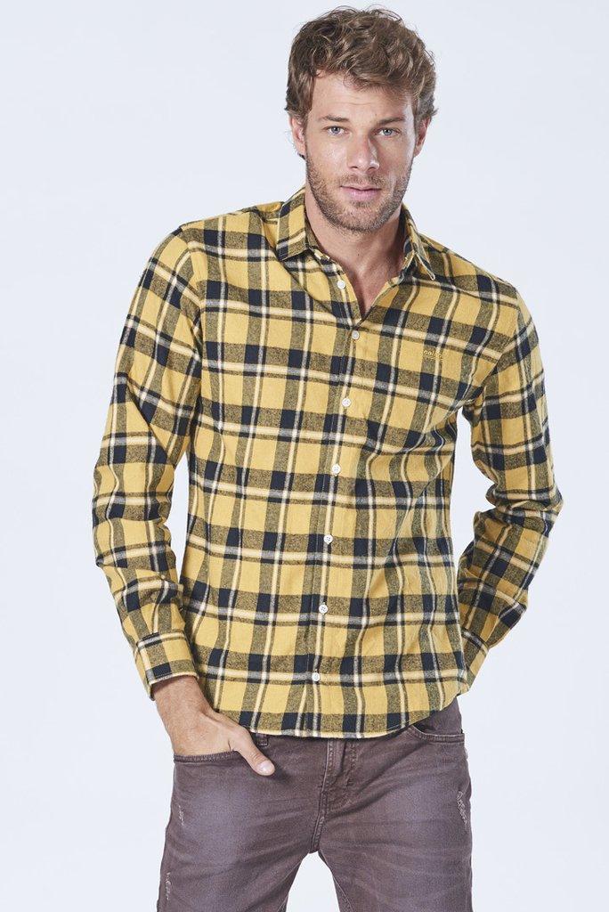 1e509b04b Camisa Manga Longa Flanela Xadrez Slim