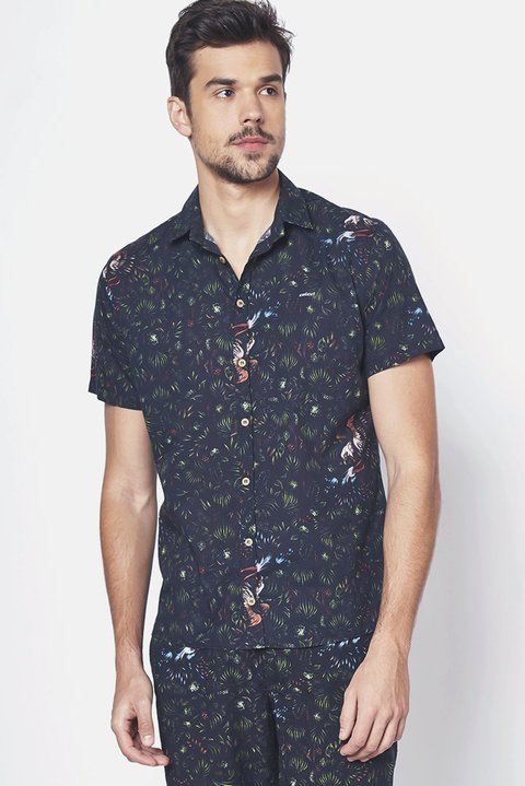 Camisa Estampada Slim