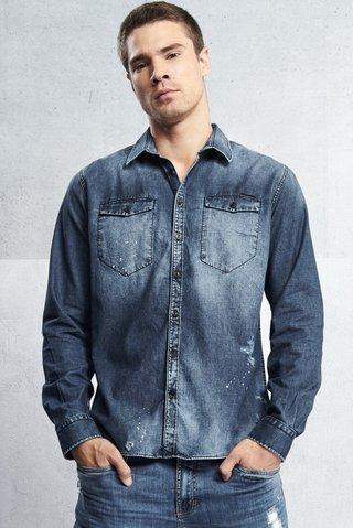 4b41f765c1 Camisa Jeans Classic Bolsos - SHOP COLCCI OFICIAL