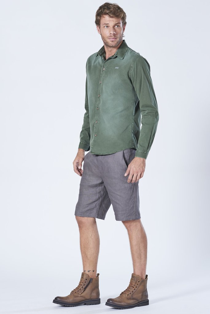 a273c69421 ... Camisa Manga Longa Sarja Estonada Classic - SHOP COLCCI OFICIAL ...